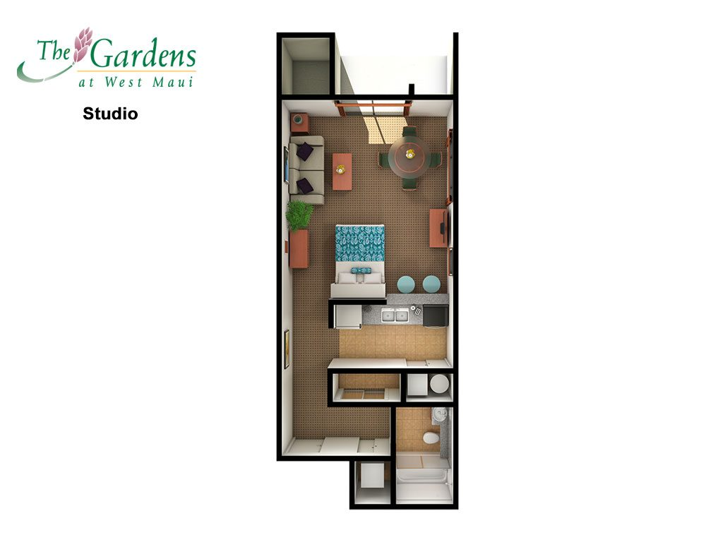 3d TGW Studio 1024x768 - The Gardens At West Maui Pictures